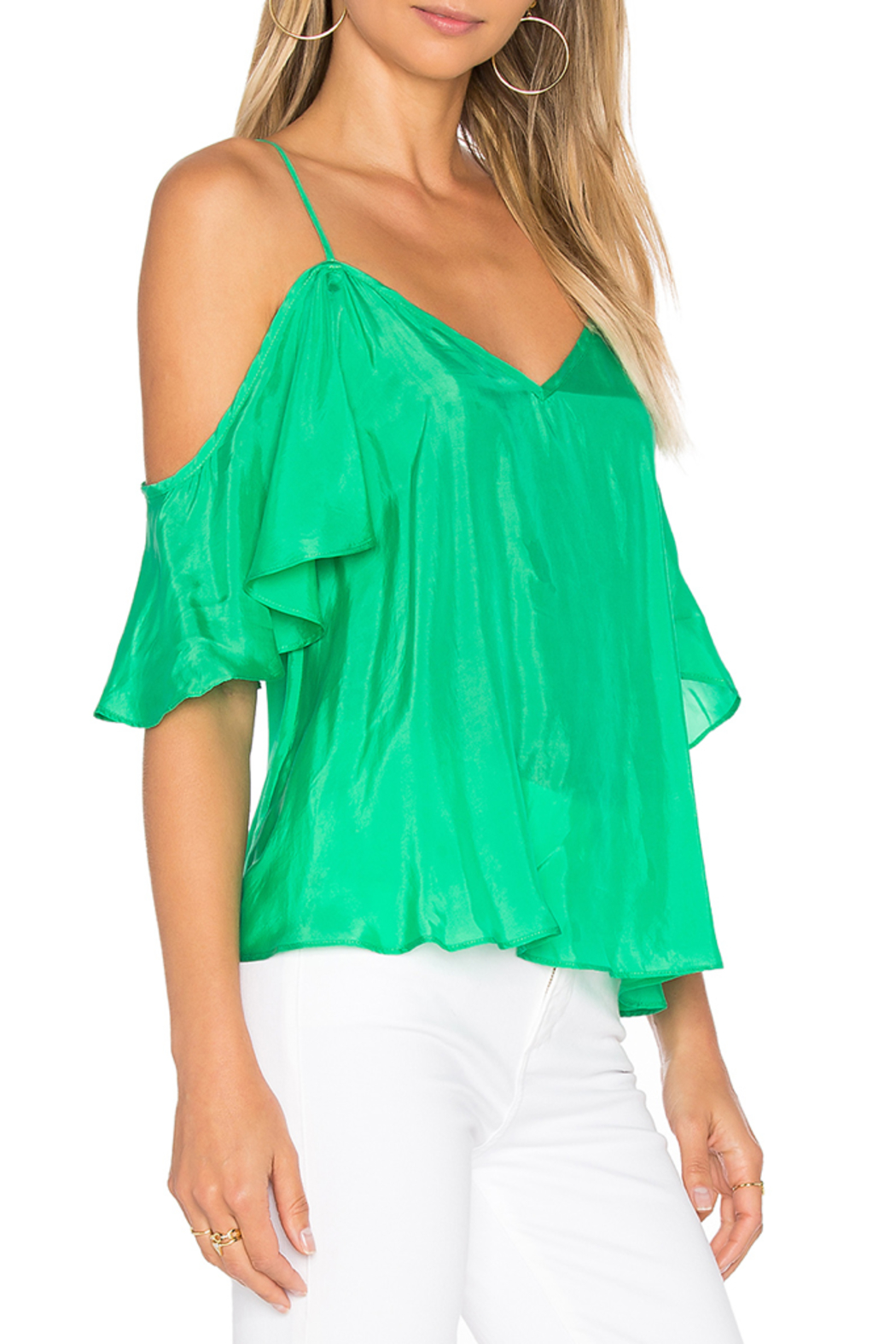 Blaque Label Ruffle Top - Side Cropped Image