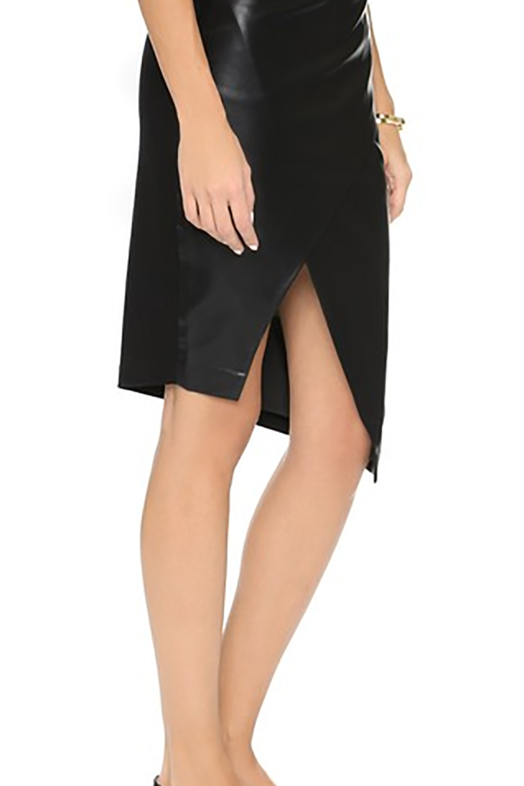 Blaque Label Sculptural Faux-Leather Skirt - Front Full Image