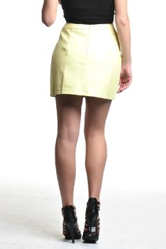 Shoptiques Product: Yellow Vegan Leather Skirt