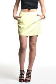 Blaque Label Yellow Vegan Leather Skirt - Product Mini Image