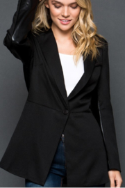 GeeGee Blazer with Faux Leather Details - Product Mini Image