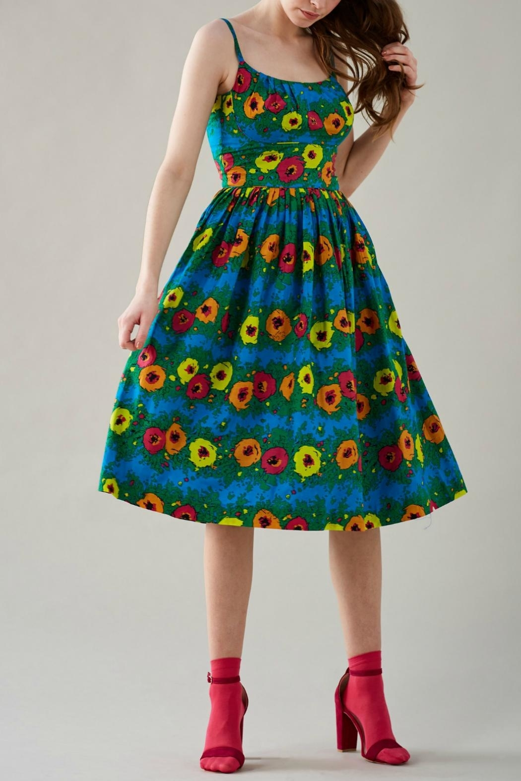 Emily & Fin Blazing Blooms Dress - Front Cropped Image