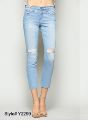 Flying Monkey Bleach Splatter Jeans - Front cropped