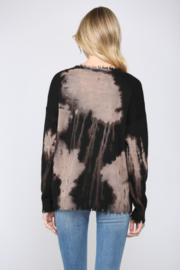 Fate Inc. Bleached Distressed Pullover Sweater Top - Side cropped