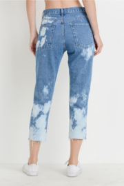 just black Bleached Mom Jeans - Side cropped