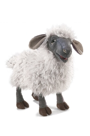 Folkmanis Bleating-Sheep Hand Puppet - Front cropped