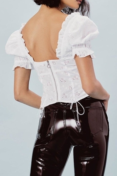 FOR LOVE & LEMONS Bleau Eyelet Blouse - Alternate List Image