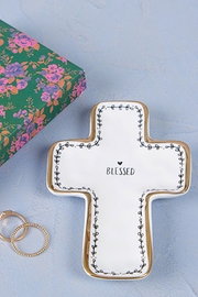 Natural Life Blessed Cross Dish - Product Mini Image