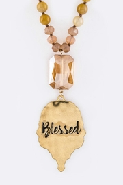 Nadya's Closet Blessed Engraved Necklace-Set - Product Mini Image