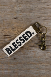 Natural Life Blessed Key Fob - Front cropped