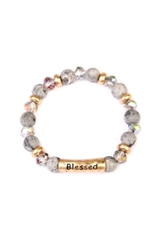 Riah Fashion Blessed Stretch Bracelet - Product Mini Image