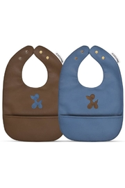 Bleu La La Trendsetter Set of Soft Vegan Leather Easy Clean Bibs - Product Mini Image