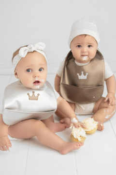Bleu La La Trendsetter Set of Soft Vegan Leather Easy Clean Bibs - Alternate List Image