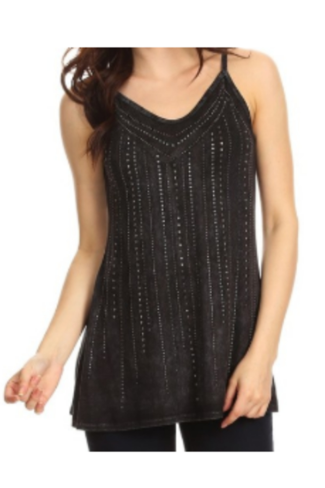 T Party Bling Embellished Tank Tops - Main Image