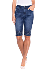 Alison Sheri  Bling Jean Short - Product Mini Image