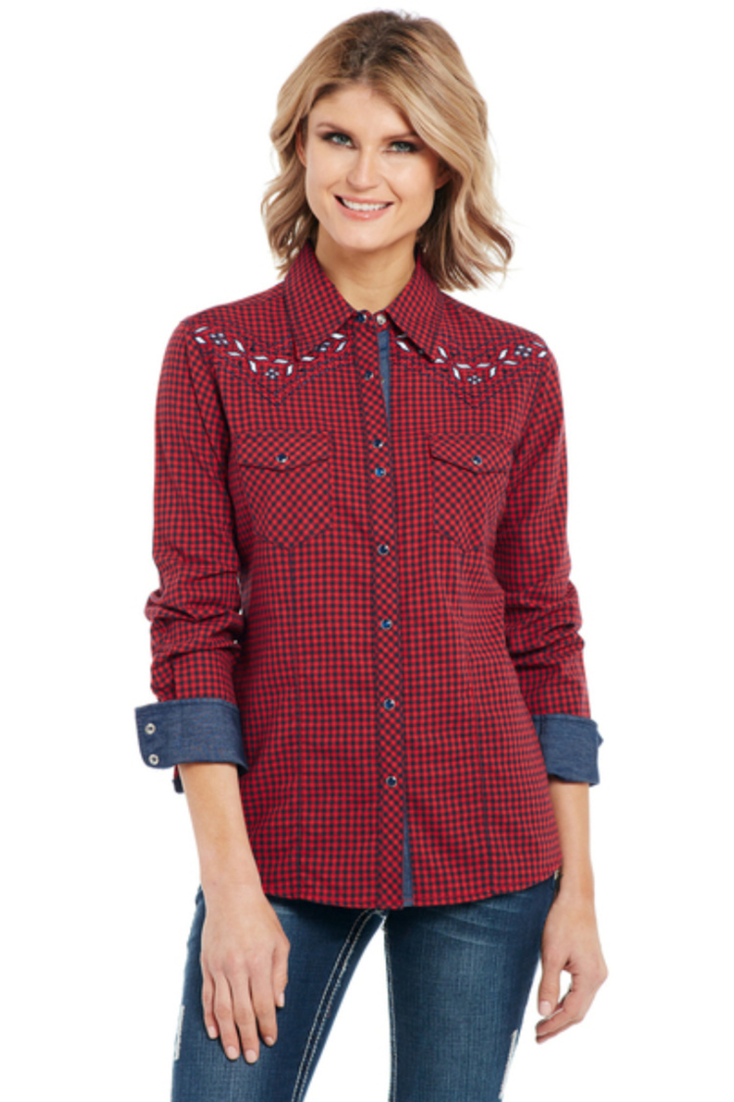 Cowgirl Up Bling Western Shirt - Main Image