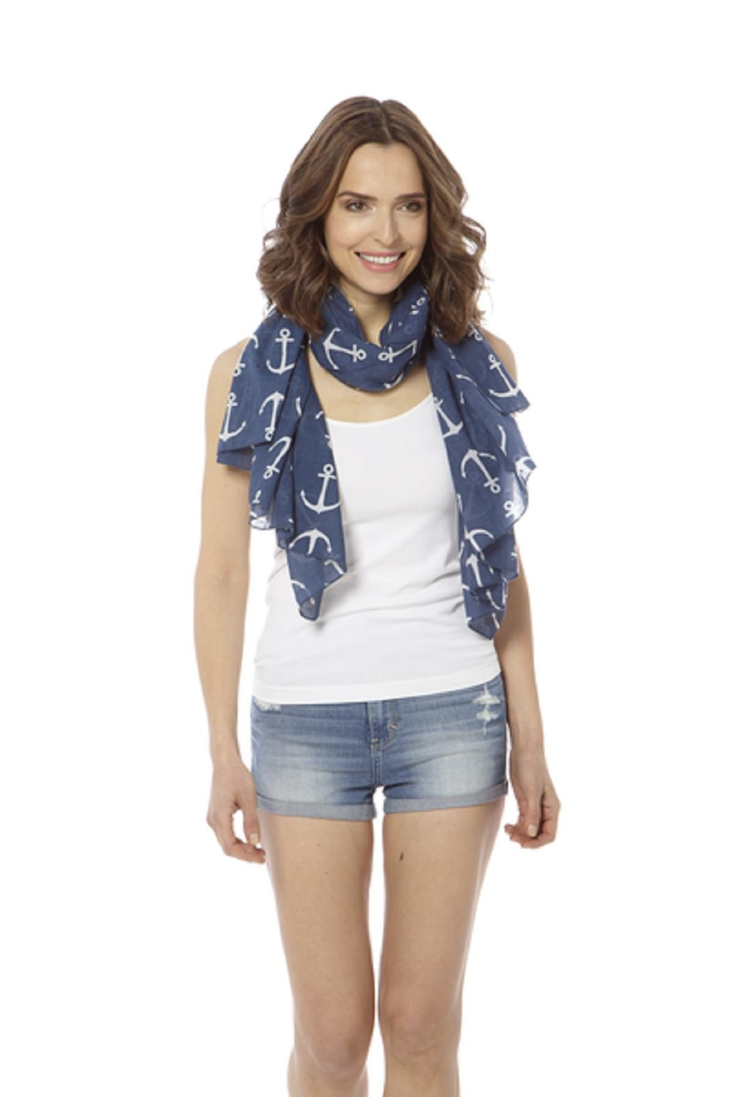Bling It Around Again Anchor Scarf - Back Cropped Image