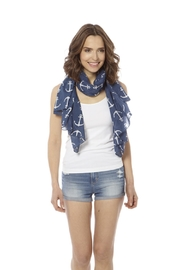 Bling It Around Again Anchor Scarf - Back cropped