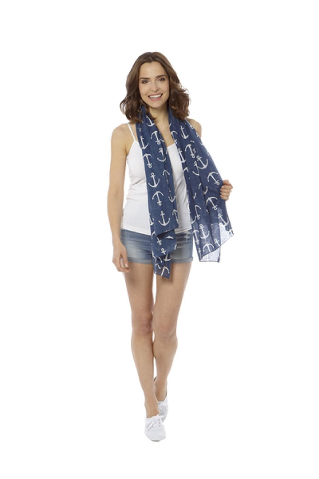 Bling It Around Again Anchor Scarf - Side Cropped Image