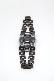 Bling It Around Again Black Link Bracelet - Front cropped
