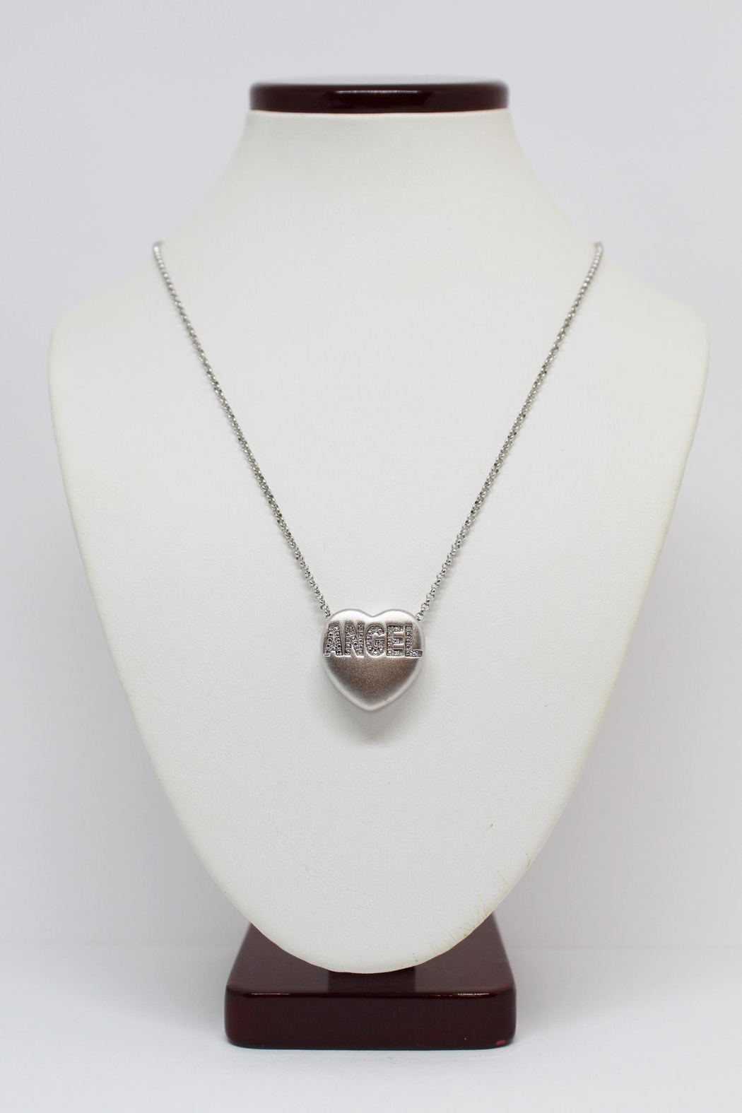 Bling It Around Again Diamond Angel Necklace - Front Full Image