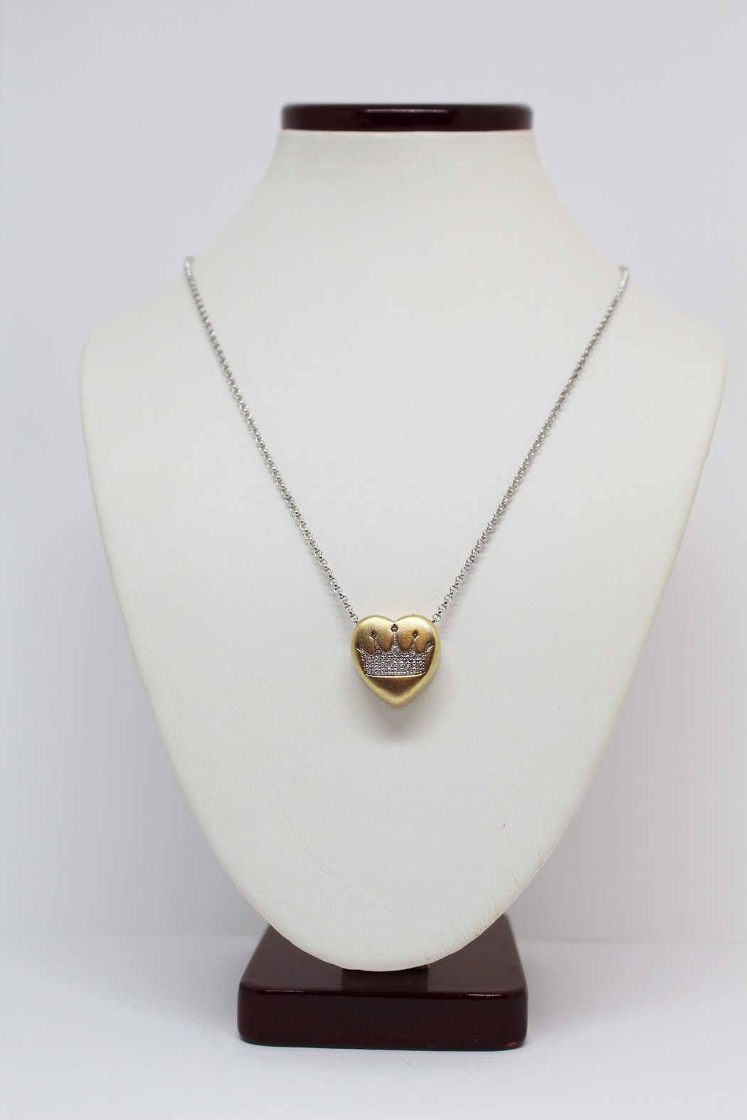 Bling It Around Again Diamond Crown Necklace - Front Full Image