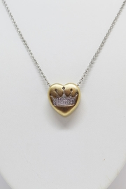 Bling It Around Again Diamond Crown Necklace - Product Mini Image