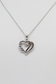 Bling It Around Again Diamond Heart Necklace - Product Mini Image