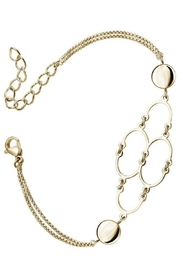 Bling It Around Again Gold Abstract Bracelet - Product Mini Image
