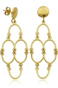 Shoptiques Product: Gold Abstract Earrings