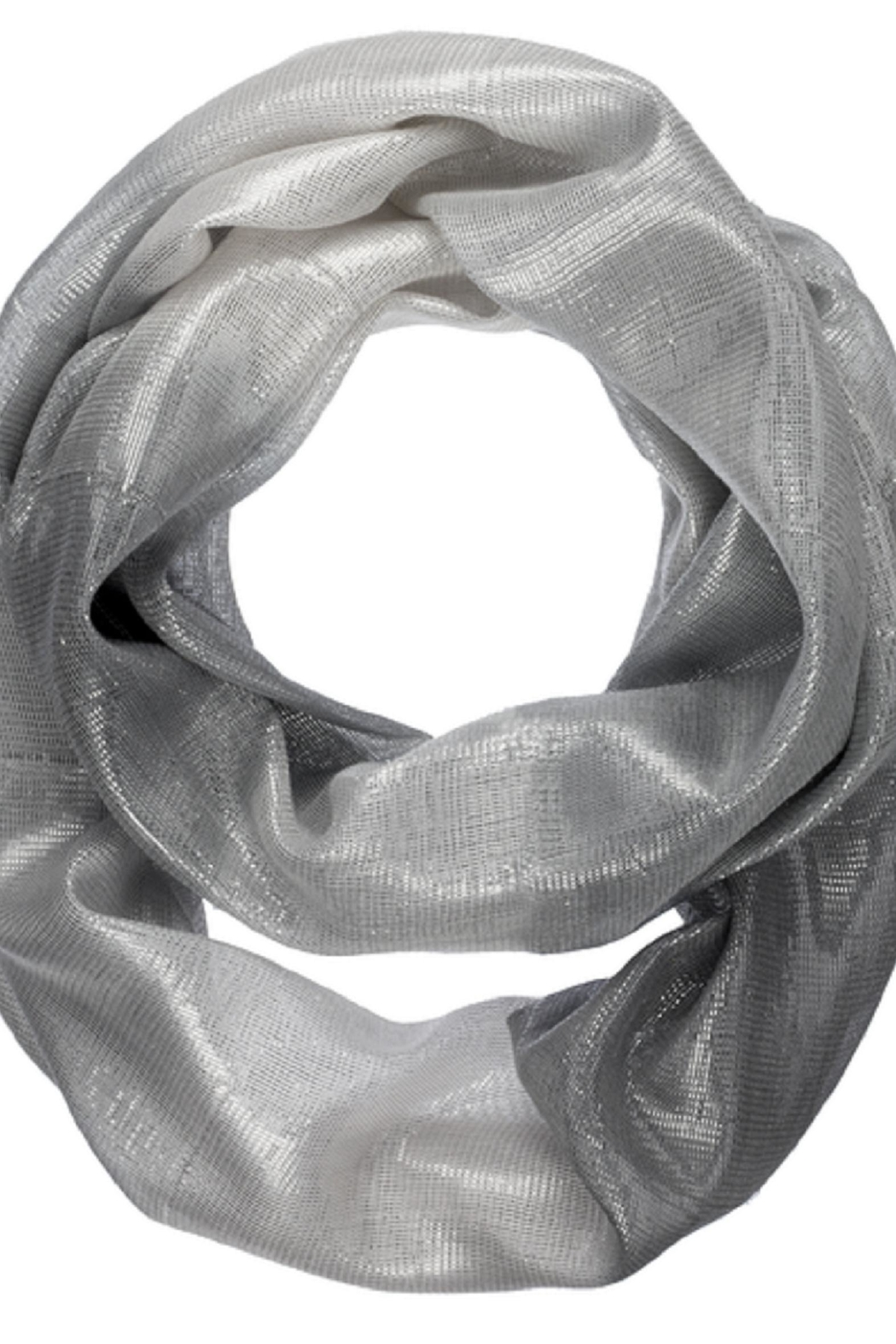 Bling It Around Again Shimmer Infinity Scarf - Front Cropped Image