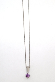 Bling It Around Again Sterling Birthstone Necklace - Front full body