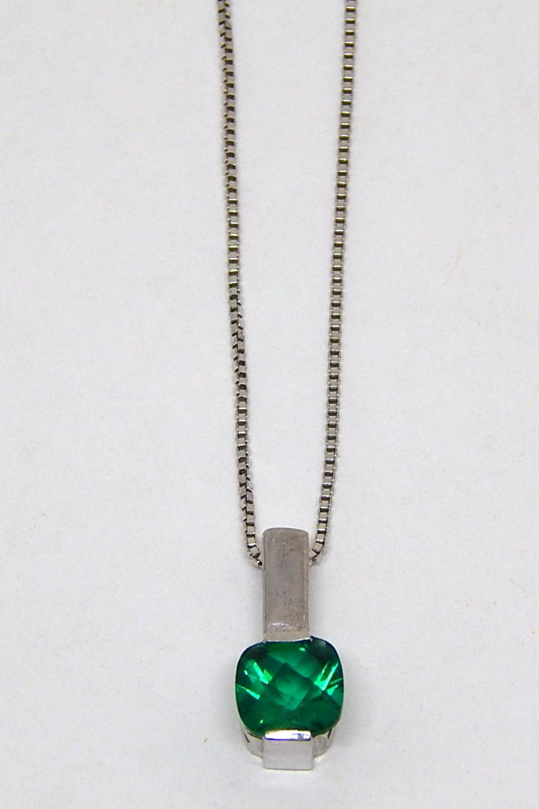 Bling It Around Again Sterling Birthstone Necklace - Front Cropped Image