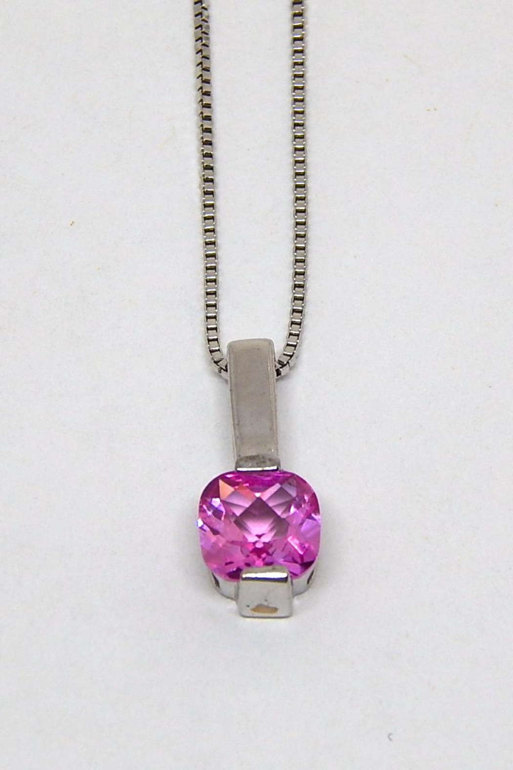 Bling It Around Again Sterling Birthstone Necklace - Main Image