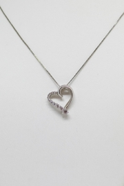Bling It Around Again Sterling Heart Necklace - Product Mini Image