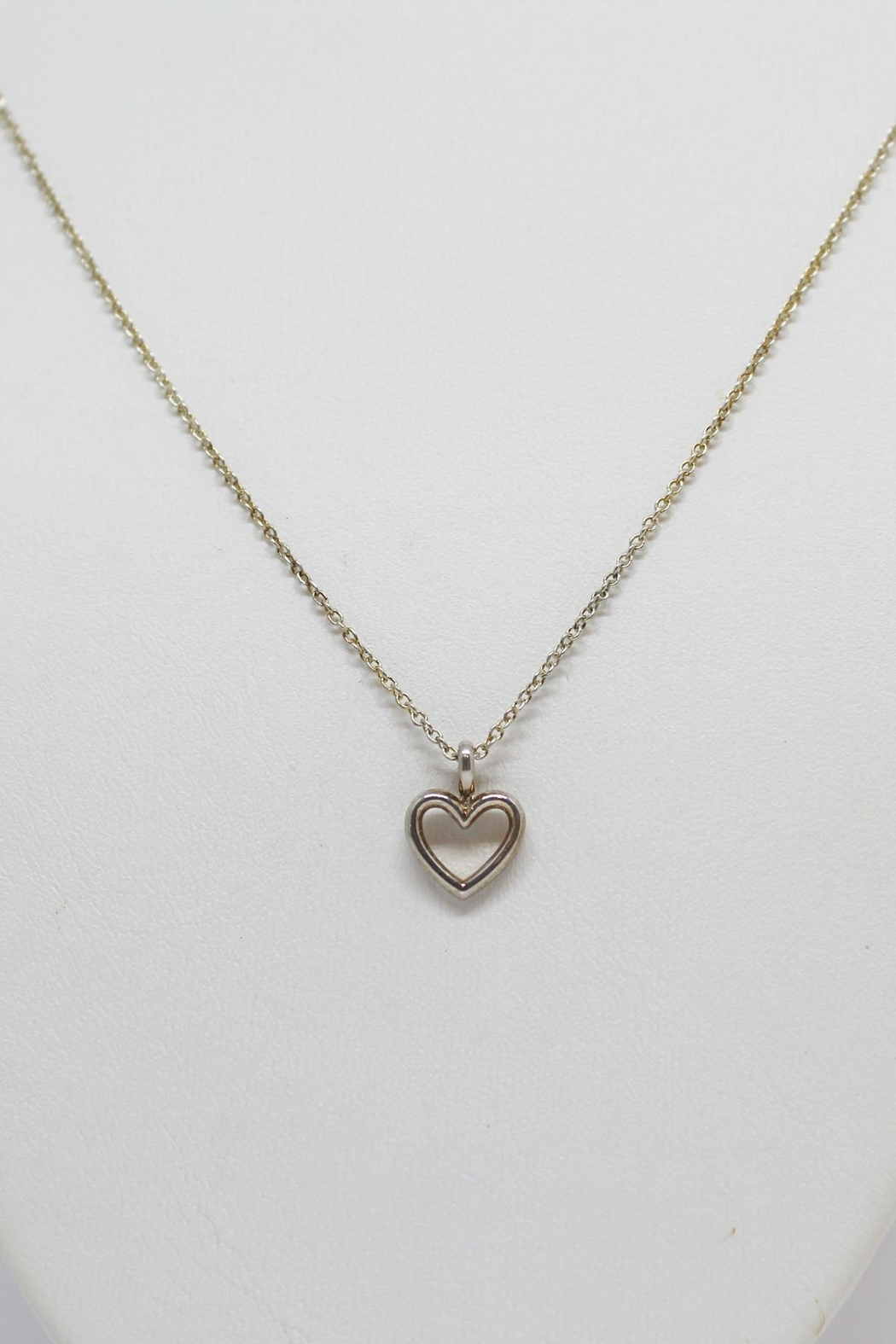 Bling It Around Again Sterling Heart Necklace - Main Image