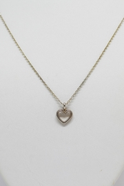 Bling It Around Again Sterling Heart Necklace - Front cropped
