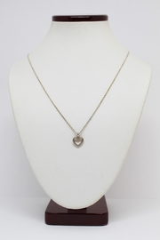 Bling It Around Again Sterling Heart Necklace - Front full body