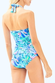 Lilly Pulitzer Bliss Halter Tankini-Top - Front full body