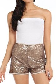 BLISSDANVILLE Gold Sequin Shorts - Product Mini Image