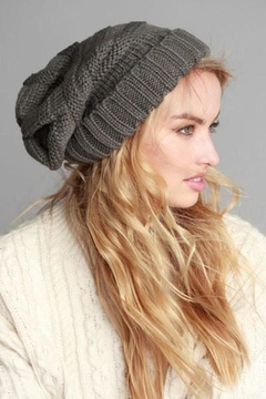 Shoptiques Product: Grey Slouchy Beanie