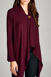 Cherish Payton Top Burgundy - Product Mini Image