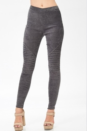 BLISSDANVILLE Suede Moto Jeggings - Product Mini Image
