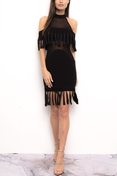 Shoptiques Product: Black Fringe Dress