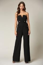 Blithe  Black Strapless Jumpsuit - Product Mini Image
