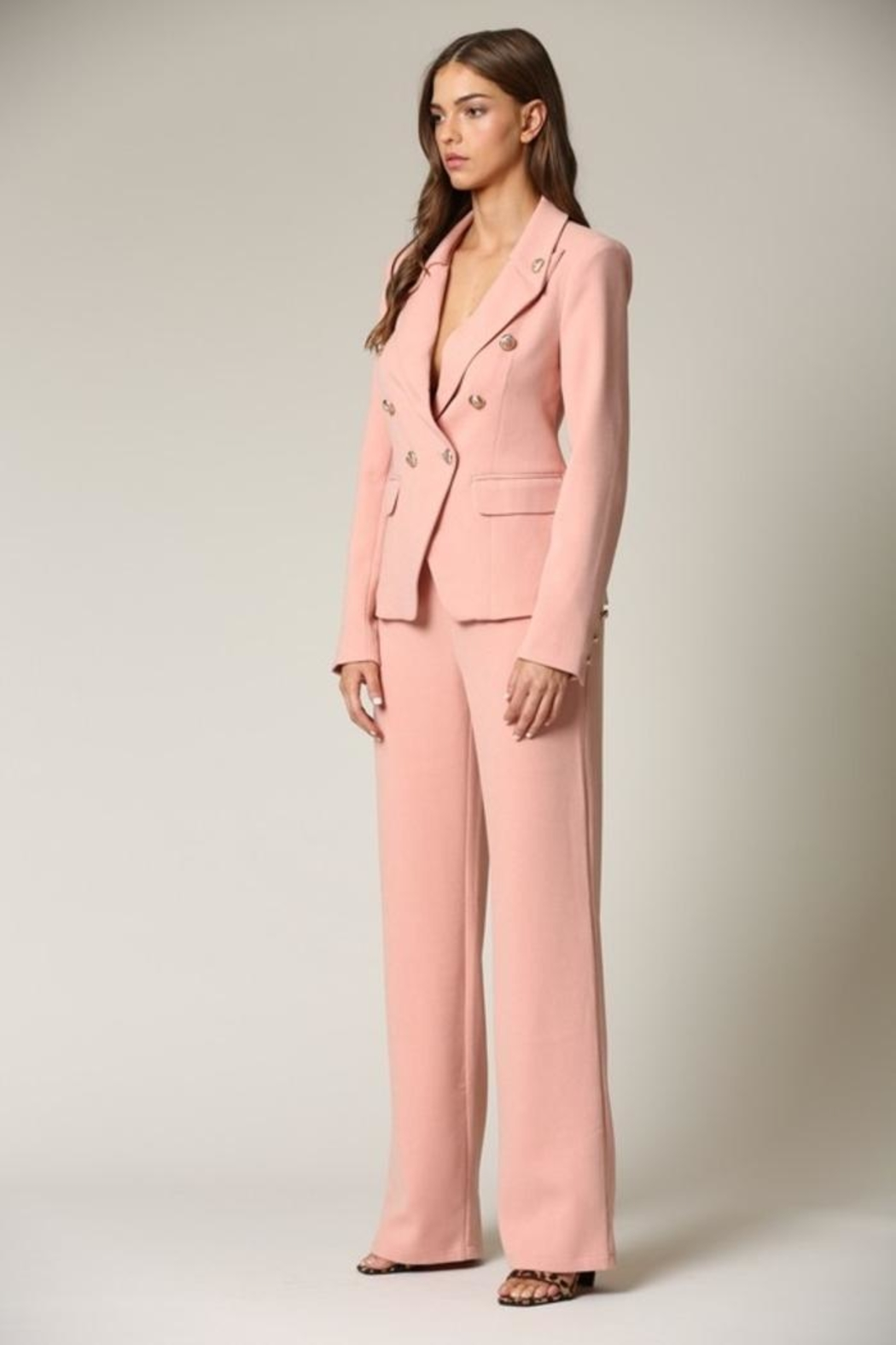 Blithe  Blush Two Piece Suit - Back Cropped Image