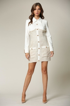Blithe  Button-Down Tweed Dress - Product List Image