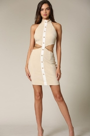 Blithe  Buttoned Cut-Out Dress - Product Mini Image