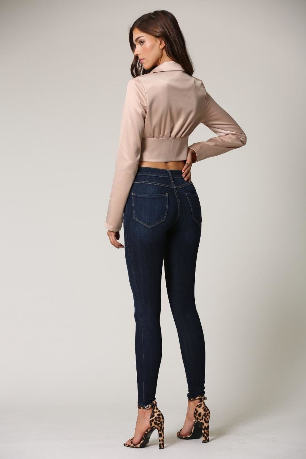 Blithe  Champagne Crop Top - Side Cropped Image