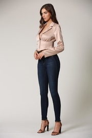 Blithe  Champagne Crop Top - Front full body